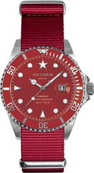 Oxygen DVR 40 Shanghai Red Fabric Strap EX-D-SHA-40-RE