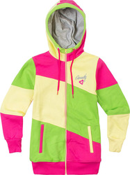 GRAVITY PUNCH ZIP HOOD GIRLS PINK/BANANA