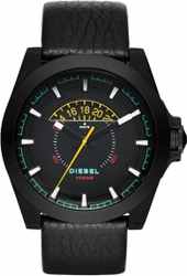 Diesel Arges Black Leather Strap DZ1691