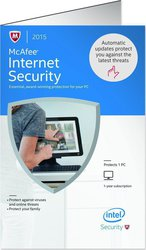McAfee Internet Security Physical Activation (1 Licence , 1 Year) Key