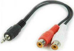 Cablexpert Audio Cable 3.5mm male - 2x RCA female 0.2m (CCA-406)