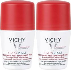 Vichy Deodorant Stress Resist Roll-On 72h 50mlx2