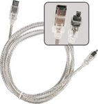 OEM FireWire Cable 6-pin male - 4-pin male 1.5m