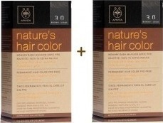 Apivita Nature's Hair Color 3.0 Καστανό Σκούρο x2