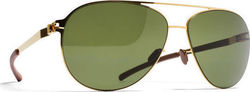 Mykita Dixon Glossy Gold/ MY+ Fern Polarised