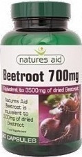 Natures Aid Beetroot Extract 700mg 90tabs