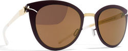 Mykita Decades Sun Priscilla Gold/Burgundy