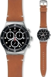 Swatch Disorderly Brown Leather Strap