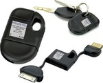 Volte-Tel Keychain USB to 30-Pin Cable Μαύρο (8094255)