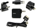 Griffin PowerBlock Apple 30pin Cable & Wall Adapter Pack Μαύρο (6307-PBLK2TVL)