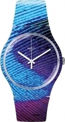 Swatch Peacobello Three Hands Multicolor Rubber Strap SUOK113