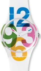 Swatch Clockwise Three Hands Rubber Strap SUOW117