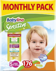 Babylino Sensitive With Chamomile No 5 (11-25Kg) 4x44τμχ