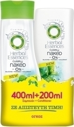 Herbal Essences Clearly Naked 0% Volume Shampoo 400ml & Conditioner 200ml