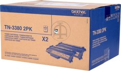 Brother TN-3380 Twin Black Toner