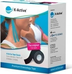 K-Active Tape Classic 5cmX5m Black