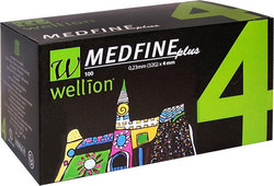 Wellion Medfine Plus 4mm 100τμχ