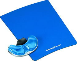Fellowes Health-V Gliding Palm Gel MousePad Wrist Rest Blue