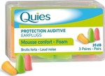 Quies Foam earplugs 3 ζεύγη
