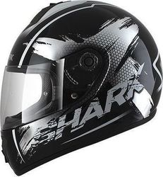 Shark S600 Pinlock Exit Matt Black/White