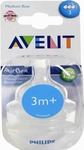 Philips Avent Classic+ Medium Flow Nipple 3m+ 2τμχ