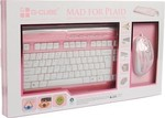 G-Cube Mad for Plaid Pink X-Slim Multimedia Keyboard & Mouse Desktop Set