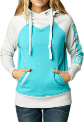 FOX GIRLS INQUIRE HOODIE BLUE ATOLL