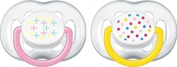 Philips Avent Contemporary Freeflow Pacifier SCF180/24 Girls 6-18m 2τμχ
