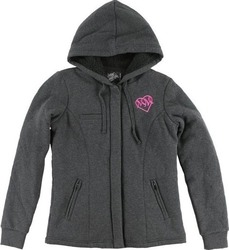 METAL MULISHA LIZABETH SHERPA ZIP FLEECE JET BLACK