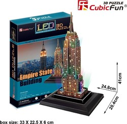Empire State Building με Φωτισμό Led (USA) 38pcs Cubic Fun