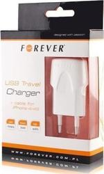 Forever Apple 30pin Cable & Wall Adapter Λευκό (5225658)