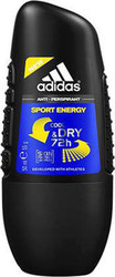 Adidas Sport Energy Cool & Dry 72H Roll-On 50ml