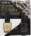 OPI Wrapped Wild for the Holidays (Rollin In Casmere & Love Is Hot And Coal)