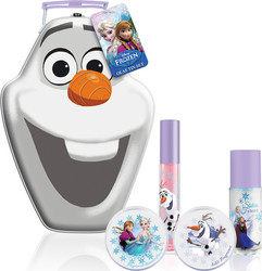 Corsair Toiletries Frozen Olaf Tin Set with Fragrance, Lip Gloss, Solid Fragance & Shimmer Dust