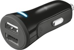 Trust 20W Car Charger With 2 Usb Ports - Black 20572