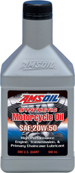 Amsoil Synthetic Motorcycle Oil 20W-50 1lt
