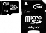 TeamGroup microSDHC 4GB Class 10 with Adapter