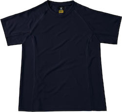 Cool Dry T-Shirt B & C Coolpower Tee Pro - Navy