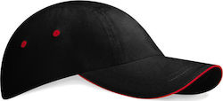 Καπέλο Low Profile Sports Beechfield B81 - Black/Classic Red