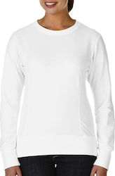 Womens French Terry Sweatshirt Anvil 72000L - White