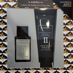 Korres Gift Set For Him II Cardamom, Tobacco, Vetiver, Sandalwood Eau de Parfum 50ml & Aftershave Balm 125ml