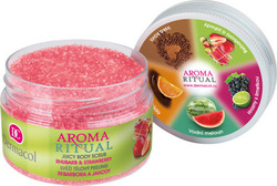 Dermacol Aroma Ritual Juicy Body Scrub Hubarb & Strawberry 200gr