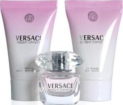 Versace Bright Crystal Eau de Toilette 5ml & Shower Gel 25ml & Body Lotion 25ml