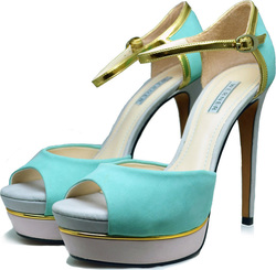 Werner Peep toe 051003 Leather Light Green