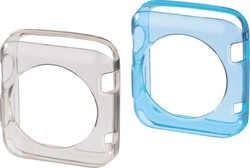 HAMA Protective Cover Set Blue/Transp for Apply Watch 38mm