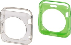 HAMA Protective Cover Set Green/Transp for Apply Watch 38mm