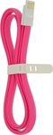 4-OK Flat Magnetic USB 2.0 to micro USB Cable Pink 1.2m (USMFLP)