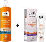 Roc Soleil-protect Anti-brown Unifying Fluid SPF50+ 50ml & Moisturising Spray Lotion SPF30 200ml