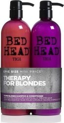 Tigi Bed Head Dumb Blonde Shampoo 750ml & Reconstructor 750ml