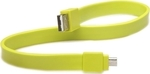 Tylt Flat USB 2.0 to micro USB Cable Green 0.3m (MIC-DATAG-T)